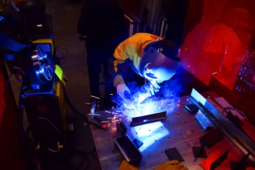 MIG welding means